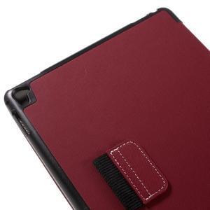 Clothy PU kožené puzdro pre iPad Pro 9.7 - červené - 7
