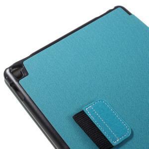 Clothy PU kožené puzdro pre iPad Pro 9.7 - svetlomodré - 7