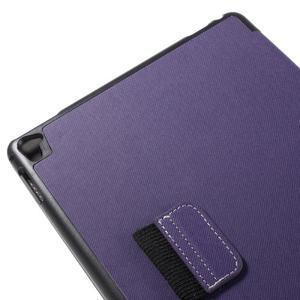 Clothy PU kožené puzdro pre iPad Pro 9.7 - fialové - 7