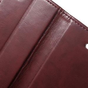 Moon PU kožené puzdro pre mobil iPhone 4 - vínové - 7