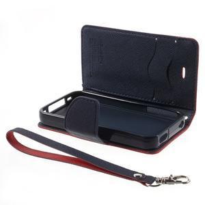 Fancys PU kožené puzdro pre iPhone 4 - červené - 7
