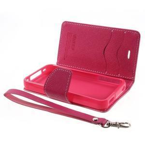 Fancys PU kožené puzdro pre iPhone 4 - ružové - 7