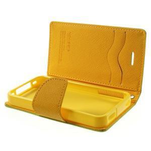 Fancys PU kožené puzdro pre iPhone 4 - zelené - 7