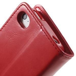 Moon PU kožené pouzdro na mobil iPhone 4 - červené - 7
