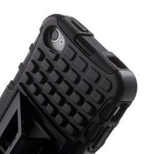Outdoor odolný obal na mobil iPhone 4 - černý - 7