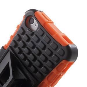 Outdoor odolný obal pre mobil iPhone 4 - oranžový - 7
