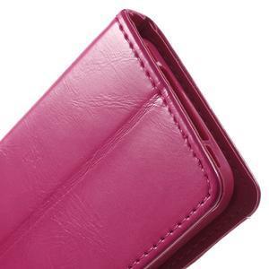 Moon PU kožené puzdro pre mobil iPhone 4 - rose - 7