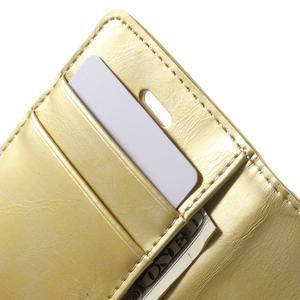 Moon PU kožené puzdro pre mobil iPhone 4 - zlaté - 7