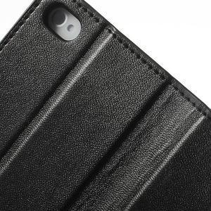 Diary PU kožené knížkové pouzdro na iPhone 4 - černé - 7