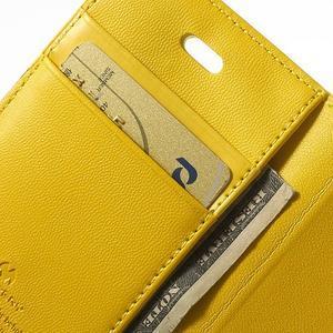 Diary PU kožené knížkové pouzdro na iPhone 4 - žluté - 7