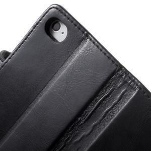 Moon PU kožené puzdro pre mobil iPhone 4 - čierne - 7