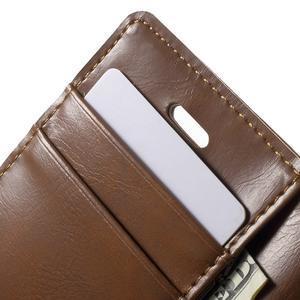 Moon PU kožené pouzdro na mobil iPhone 4 - hnědé - 7