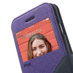 Peňaženkové puzdro s okienkom na iPhone 6 a 6s - fialové - 7