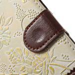 Elegantné kvetinové peňaženkové puzdro na iPhone 6 a 6s - biele - 7/7