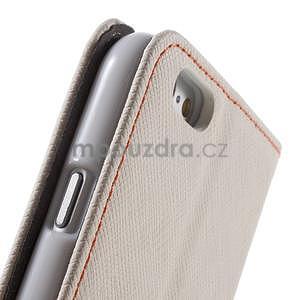 Klopové puzdro na iPhone 6 a iPhone 6s - biele - 7