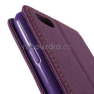 Klopové puzdro pre iPhone 6 a iPhone 6s - fialové - 7