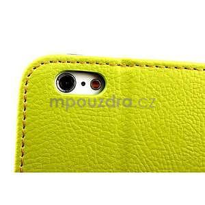 PU kožené peňaženkové puzdro pre iPhone 6s a 6 - zelene - 7