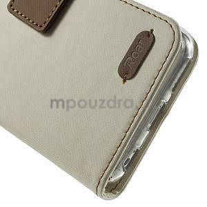 Peňaženkové koženkové puzdro na iPhone 6s a 6 - biele - 7