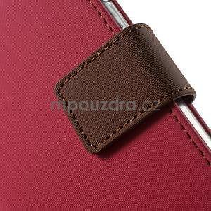 Peňaženkové koženkové puzdro pre iPhone 6s a 6 - rose - 7