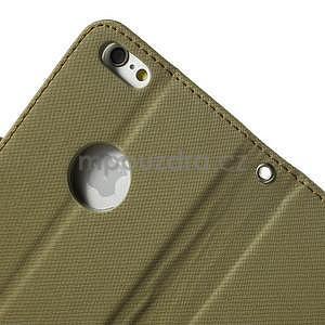Peňaženkové koženkové puzdro na iPhone 6s a 6 - khaki - 7