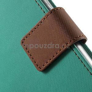 Peňaženkové koženkové puzdro na iPhone 6s a 6 - zelené - 7