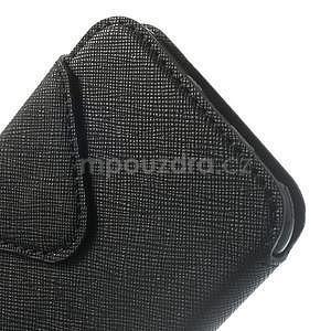 Peňaženkové puzdro s okienkom na iPhone 6 a 6s - čierne - 7