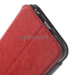 Peňaženkové puzdro s okienkom na iPhone 6 a 6s - červené - 7