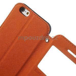 Peňaženkové puzdro s okienkom na iPhone 6 a 6s - oranžové - 7
