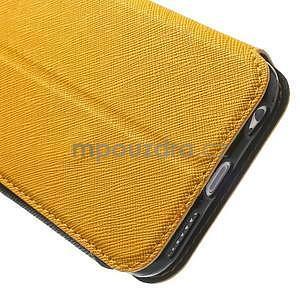 Peňaženkové puzdro s okienkom na iPhone 6 a 6s -  žlté - 7