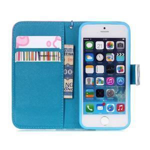 Peňaženkové puzdro pre mobil iPhone SE / 5s / 5 - púpavy - 7