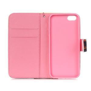 Peňaženkové puzdro pre mobil iPhone SE / 5s / 5 - makový kvet - 7