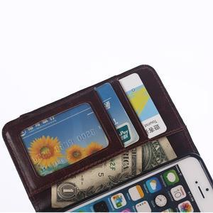 Jeans peňaženkové puzdro pre mobil iPhone SE / 5s / 5 - čiernomodré - 7