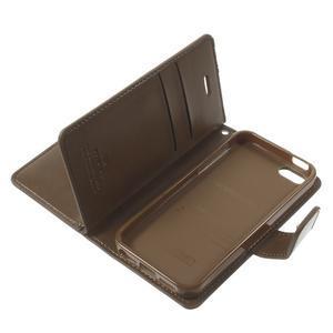Extrarich PU kožené pouzdro na iPhone SE / 5s / 5 - tmavěhnědé - 7