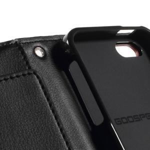 Rich diary PU kožené pouzdro na iPhone SE / 5s / 5 - hnědé - 7