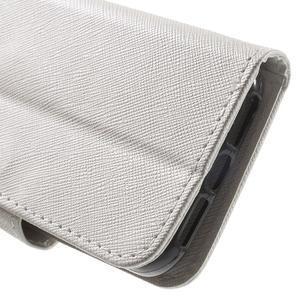 Cross PU kožené puzdro pre iPhone SE / 5s / 5 - biele - 7