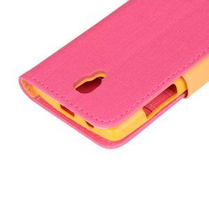 Clothy PU kožené pre mobil Lenovo A2010 - rose - 7