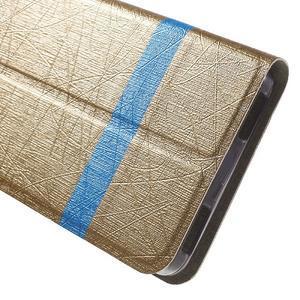 Klopové puzdro pre mobil Lenovo Vibe P1m - zlaté - 7