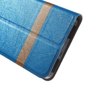 Klopové puzdro pre mobil Lenovo Vibe P1m - svetlo modré - 7