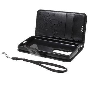 Buttefly PU kožené pouzdro na mobil LG Leon - černé - 7