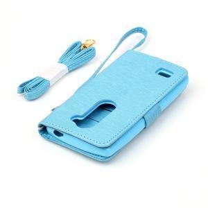 Magicfly pouzdro na mobil LG Leon - modré - 7