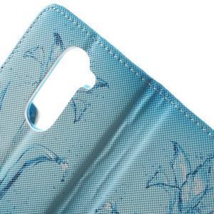 Emotive knížkové puzdro pre mobil LG Leon - vodní kvet - 7