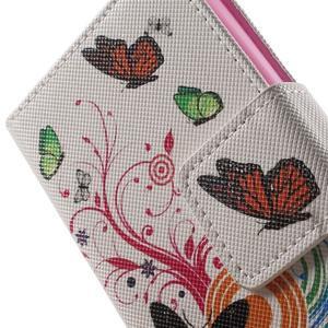 Emotive knížkové puzdro pre mobil LG Leon - motýľe - 7