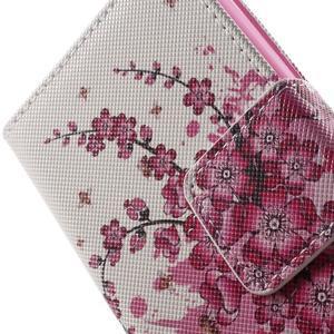 Emotive knížkové pouzdro na mobil LG Leon - kvetoucí větvička - 7