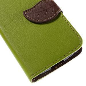 Leaf PU kožené pouzdro na mobil LG Leon - zelené - 7