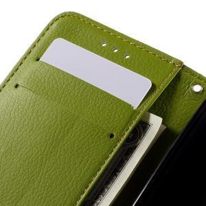 Leaf PU kožené pouzdro na mobil LG Leon - hnědé - 7