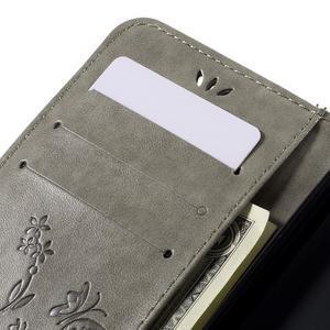 Butterfly PU kožené puzdro pre Microsoft Lumia 640 - sivé - 7