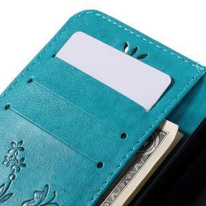 Butterfly PU kožené puzdro pre Microsoft Lumia 640 - modré - 7
