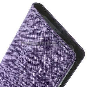 Style peňaženkové puzdro HTC One Mini 2 - fialové - 7