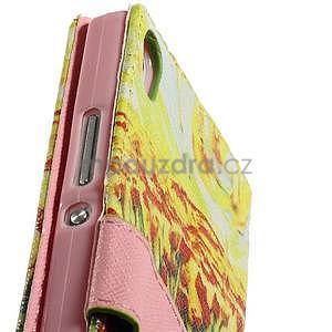 Obrazové peňaženkové puzdro na Huawei Ascend P7 - tulipány - 7