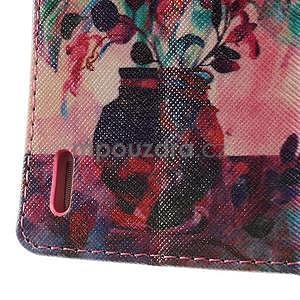 Obrazové peňaženkové puzdro na Huawei Ascend P7 - kytica - 7